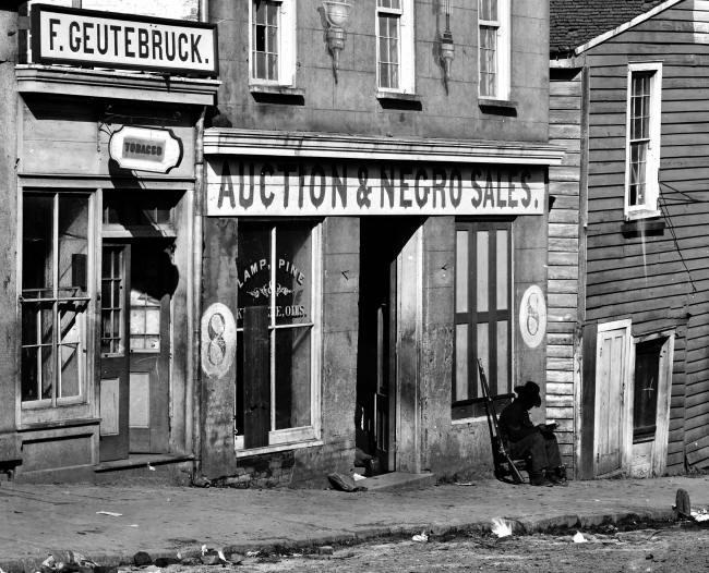 Slave market. Atlanta, 1864.