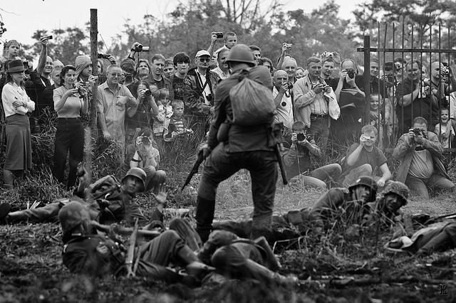 WWII reenactment. Poland, 2009.