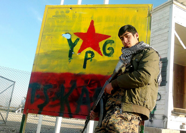 Building their own state. Kurdish YPG fighter, April 2015.