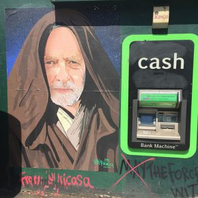 Jeremy Corbyn as Obi-Wan Kenobi. Shoreditch, May 2017.