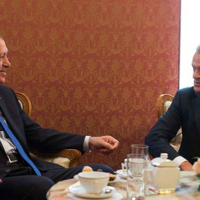 Still a part of Europe: Erdoğan meeting with EU Council President Donald Tusk. Brussels, November 2013.