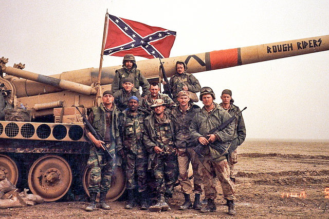 Soldiers of the Kentucky National Guard's 1st Battalion, 623rd Field Artillery deployed to the Persian Gulf for Operation Desert Storm, Jan-April, 1991.