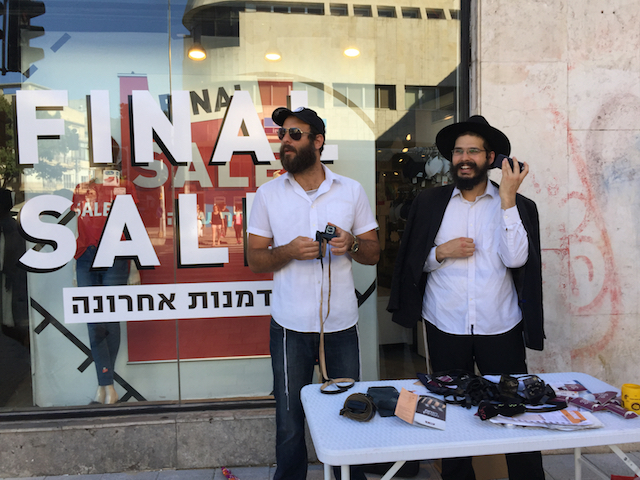 Chabad salesman. Tel Aviv, August 2017.