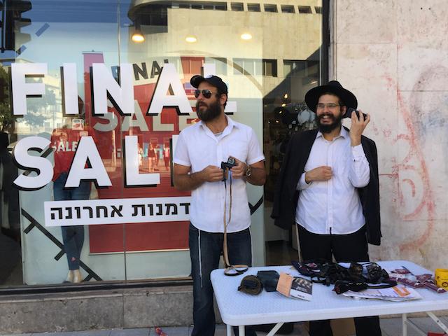 Chabad salesman. Tel Aviv, August 2017.