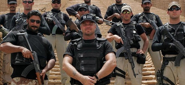 Erik Prince, with Blackwater mercenaries, in Yemen.