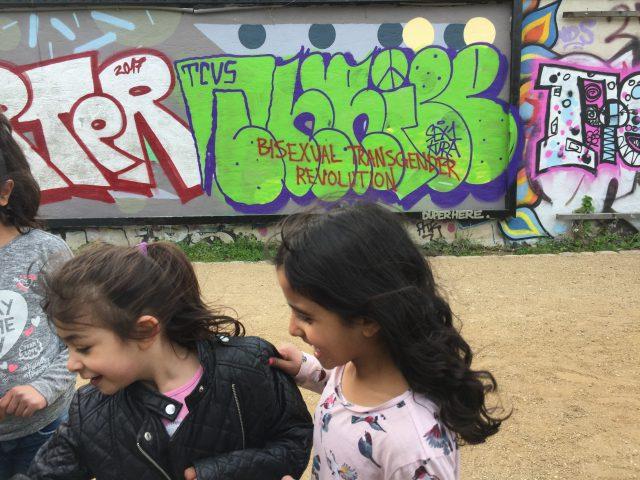 Arab migrant girls. Berlin, January 2017.