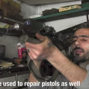 Christian gunsmith. Syria, April 2017. (Al-Jazeera)