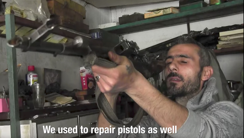 Christian gunsmith. Syria, April 2017. (Al-Jazeera)