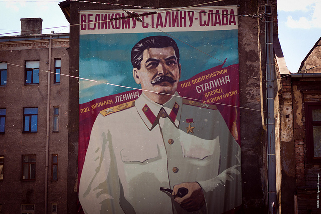Stalin mural. Russia, 2011.