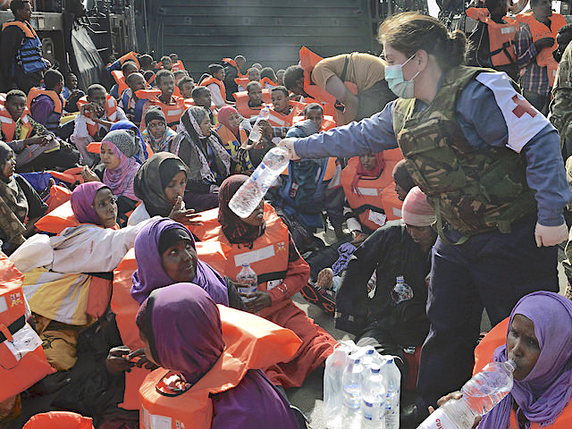 Rescued African migrants. Italy, August 2014.