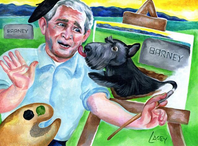 Bush and friends.